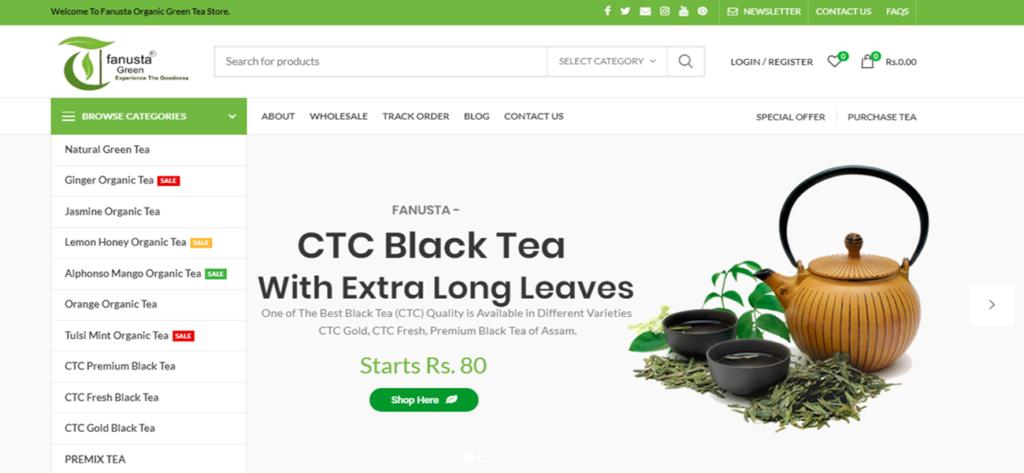 Fanusta Green – A Online Tea Store