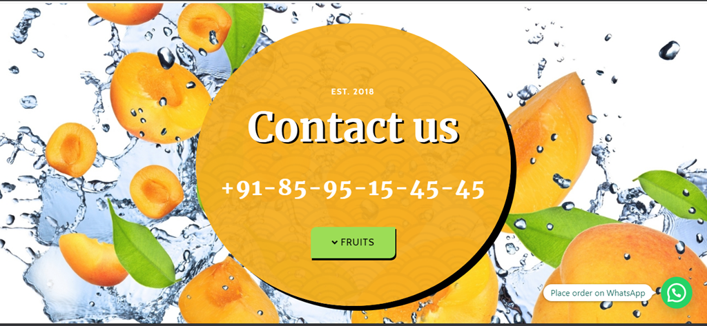 FRUITS ON TABLE – A ONLINE FRUIT STORE