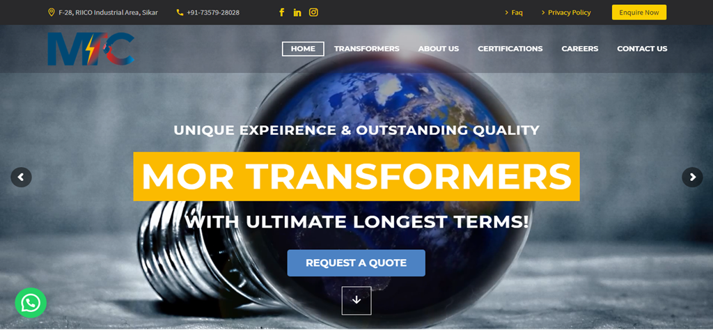 MOR TRANSFORMER – A TRANSFORMERS COMPANY
